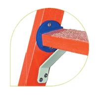 Лестница стеклопластиковая приставная раздвижная ЛСПРД-9,0 Евро