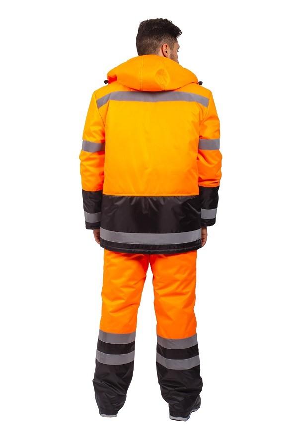 Костюм зимний Дорожник (тк.Оксфорд) брюки, оранжевый/черный