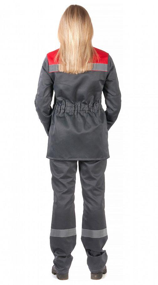 """Костюм женский """"Чикаго"""" с брюками (т.серый/красный) PENTALAB"""