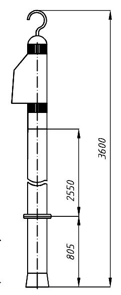 Указатель высокого напряжения УВНУ-35-220 Д
