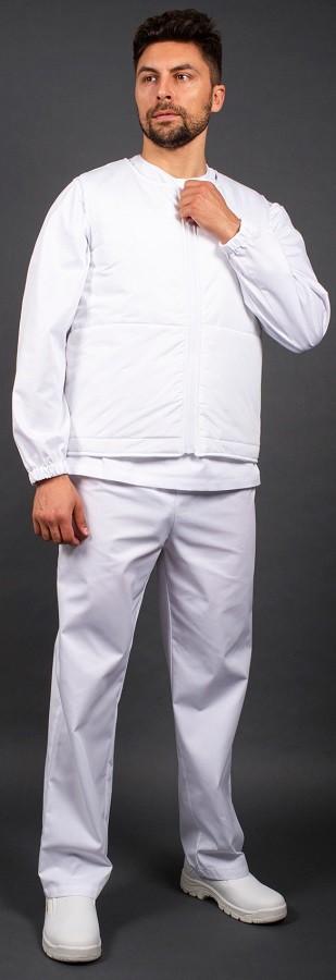 Жилет утепленный Комфорт (тк.Дюспо), белый