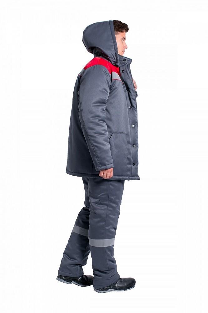 Костюм зимний Партнер NEW (тк.Смесовая,210) п/к, т.серый/красный