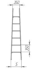 Лестница стеклопластиковая приставная ЛСПД-1,5