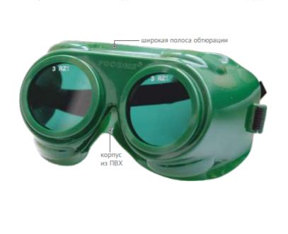 Очки защитные закрытые с непрямой вентиляцией ЗН62 GENERAL (6) 26232