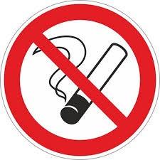 Знак запрещающий Р01 Запрещается курить (Пленка 200 х 200)