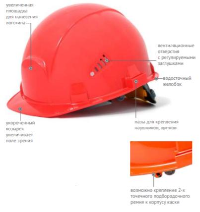 Каска защитная СОМЗ-55 ВИЗИОН RAPID красная 78716