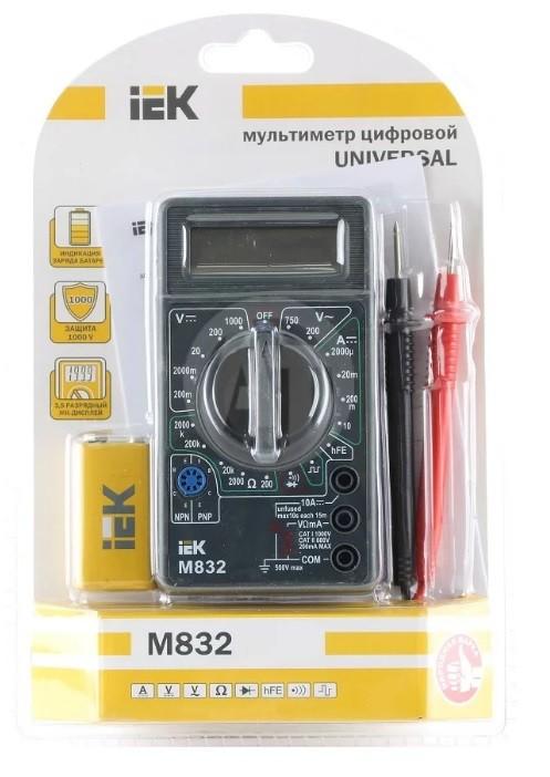 Мультиметр цифровой IEK M832