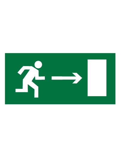 Знак эвакуационный E03 Направление к эвакуационному выходу направо (Пленка 150 х 300)