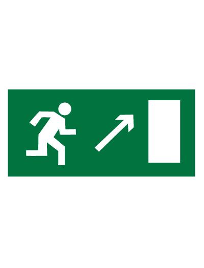 Знак эвакуационный E05 Направление к эвакуационному выходу направо вверх (Пленка 150 х 300)