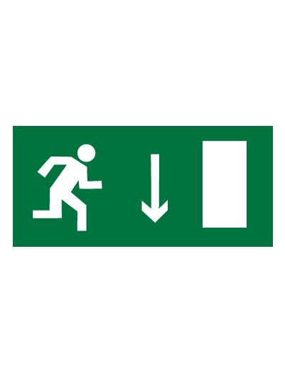 Знак эвакуационный E09 Указатель двери эвакуационного выхода (правосторонний) (Пленка 150 х 300)