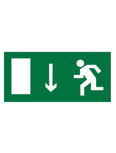 Знак эвакуационный E10 Указатель двери эвакуационного выхода (левосторонний) (Пленка 150 х 300)