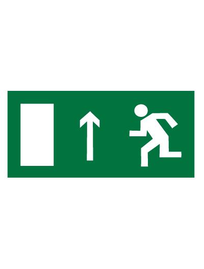 Знак эвакуационный E12 Направление к эвакуационному выходу прямо (левосторонний) (Пленка 150 х 300)