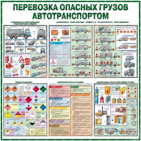Стенд Перевозка опасных грузов автотранспортом (1000х1000х3мм, пластик)