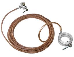 Заземление переносное для пожарных стволов ЗПС сеч. 25 мм2, дл. 10 м (Электроприбор)