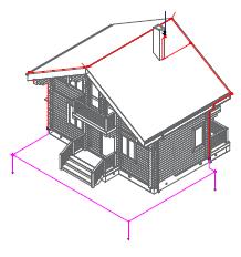 Комплект молниезащиты частного дома MZ – 8 Д для деревянного фасада, оцинк.