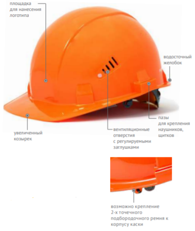 Каска защитная СОМЗ-55 FavoriT оранжевая 75514