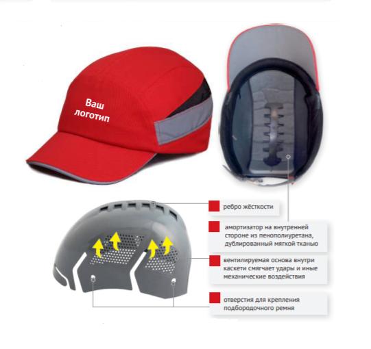 Каскетка защитная RZ BioT CAP оранжевая 92214