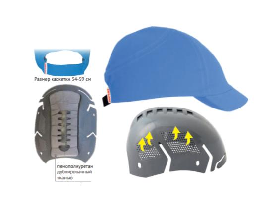 Каскетка защитная RZ ВИЗИОН CAP красная 98216