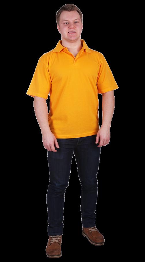 Рубашка-поло с манжетами желтая