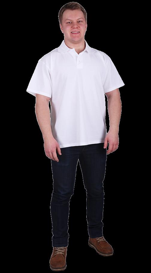 Рубашка-поло с манжетами белая