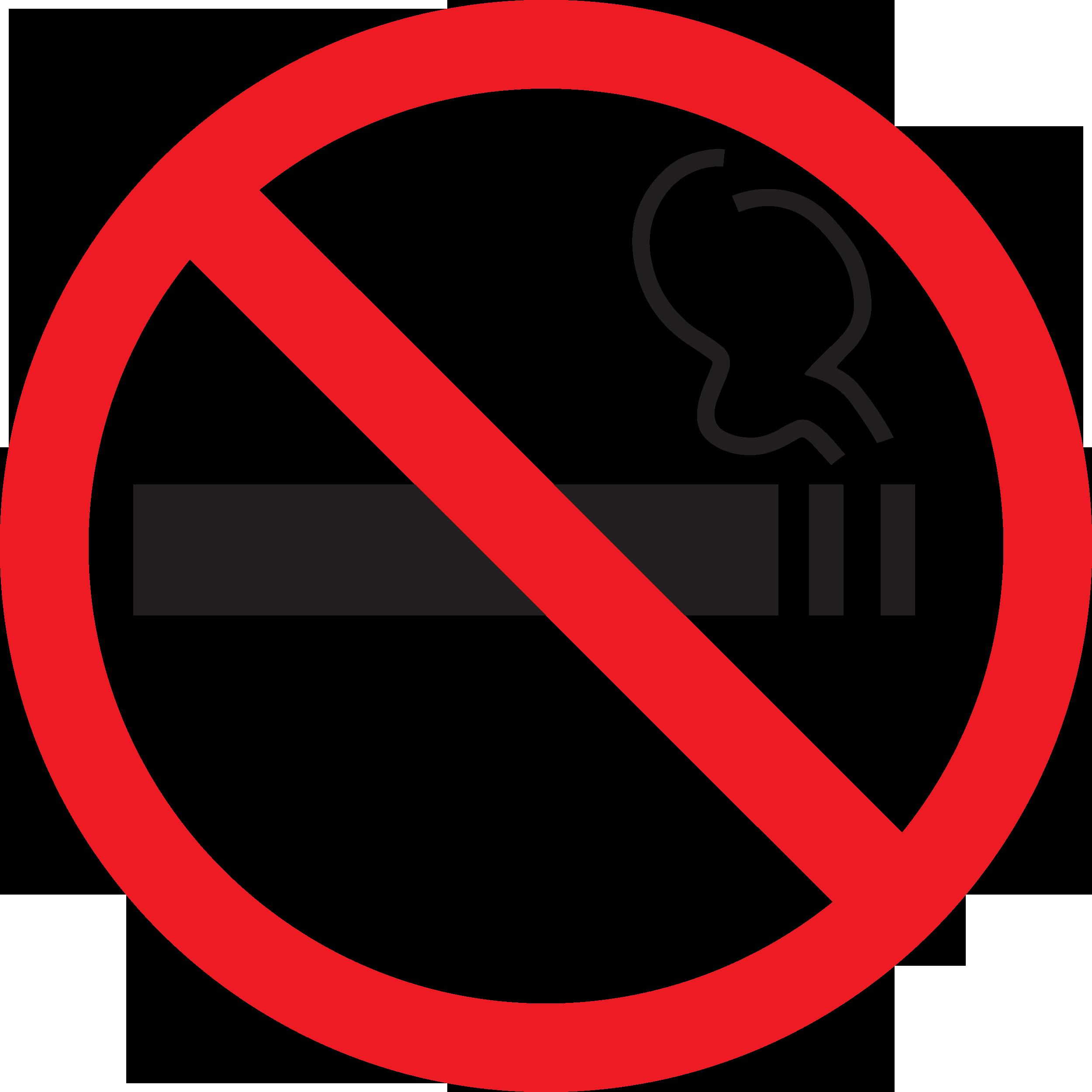 Знак запрещающий Т340 Дополнительный знак о запрете курения (Пленка 100 x 100)