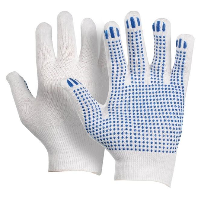 Перчатки защитные Люкс, 13 кл (точка, протектор, волна)