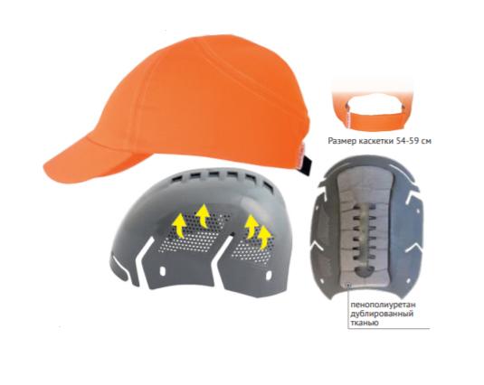 Каскетка защитная RZ FavoriT CAP темно-серая 95510