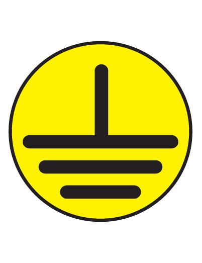 Знак электробезопасности T22 Указатель заземления (Пленка 050 х 050)