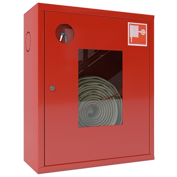 Шкаф для пожарного крана Откр Пр/Лев в стену без окна