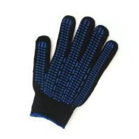 Перчатки защитные Эконом, 10 кл черные  обл. нитка(точка, волна, протектор)