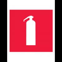 Знак пожарной безопасности F04 Огнетушитель (Пленка 150 х 150)