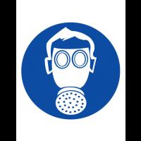 Знак предписывающий M04 Работать в средствах индивидуальной защиты органов дыхания (Пленка 200 х 200)