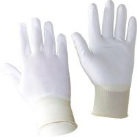 Перчатки от порезов трикотажные фибра/спандекс покрытые ПУ. Сопротивление: трению-4, порезу-5, разрыву-4, проколу-3