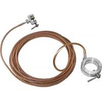 Переносное заземление для пожарных стволов ЗПС-1 сеч. 16 мм2, дл. 8м, с протоколом осмотра
