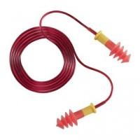 Беруши одноразовые BUP на шнуре, ПВХ, комфортабельные, 30 дБ, красные