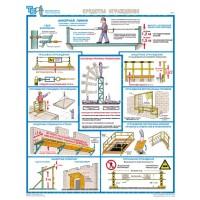 Плакаты Безопасность работ на высоте (3 листа, формат А2+, 465х610 мм, ламинация)