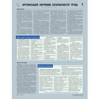 Плакаты Организация обучения безопасности труда (3 листа, формат А2+, 465х610 мм, ламинация)