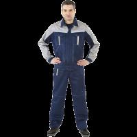 "Костюм ""Оптима"" с брюками (т.синий/серый) PENTALAB"