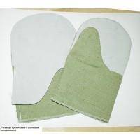 Рукавицы защитные брезентовые со спилковым наладонником