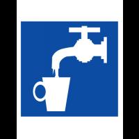 Знак указательный D02 Питьевая вода (Пленка 200 х 200)