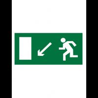 Знак эвакуационный E08 Направление к эвакуационному выходу налево вниз (Пленка 150 х 300)
