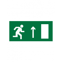 Знак эвакуационный E11 Направление к эвакуационному выходу прямо (правосторонний) (Пленка 150 х 300)