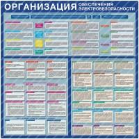 Стенд Организация обеспечения электробезопасности (1000х1000х3мм, пластик)