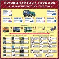 Стенд Профилактика пожара на автотранспортных средствах (1000х1000х3мм, пластик)