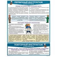 Плакат Первичный инструктаж на рабочем месте (1 лист, формат А2+, 465х610 мм, ламинация)