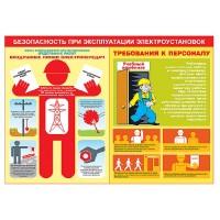 """Комплект плакатов """"Безопасность при эксплуатации электроустановок"""" (8 листов, ламинат)"""