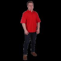 Рубашка-поло с манжетами красная