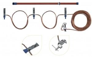 Переносное заземление ЗПЛ-10-3 Д сеч. 25 мм2, 3 штанги