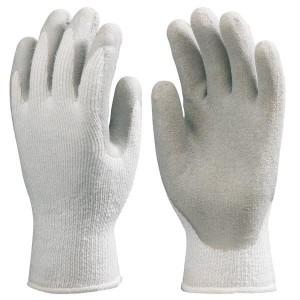 Перчатки от порезов трикотажные покрытые латексом. Сопротивление: трению-2, порезу-2, разрыву-4, проколу-2
