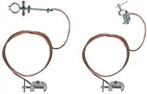 Переносное заземление для пожарных стволов ЗПС-1 Д сеч. 25 мм2, дл. 8 м